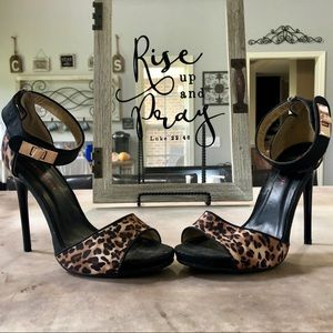 Leopard Single Sole Heel